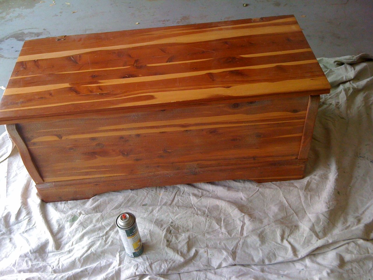 cedar chest to cushioned storage bench