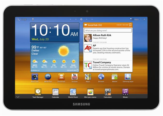 Samsung Galaxy Tab 8.9 4G P7320T - Full tablet specifications