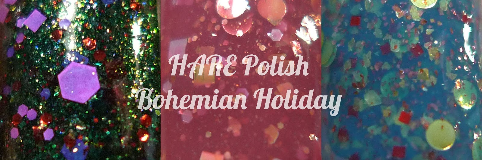 HARE Bohemian Holiday Free-Spirit Of The Season green glitter nail polish