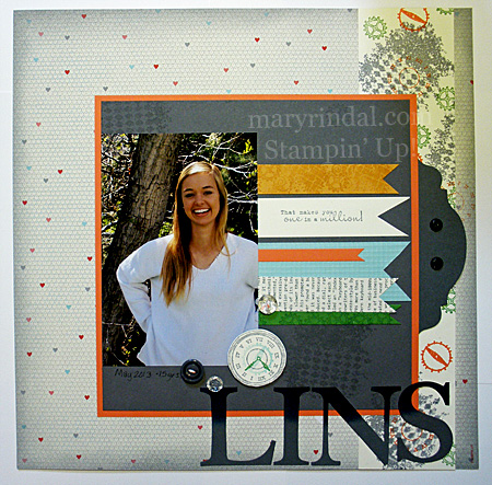 When I Pulled Out My Scrapbook Items And Some Inspiration Pages Found This 8x8 Layout From The Denver Stampin Up Regional Last Year