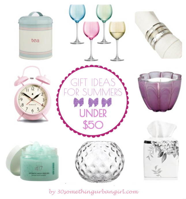Home decor gift ideas for Summer seasonal color women under 50USD