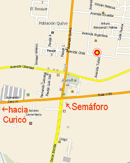 Restaurante Colo Colo Romeral mapa Romeral
