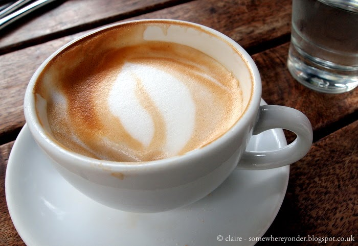 flat white at Devonport Stone Oven Bakery & Cafe