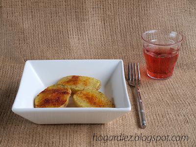 Patatas asadas en el microondas