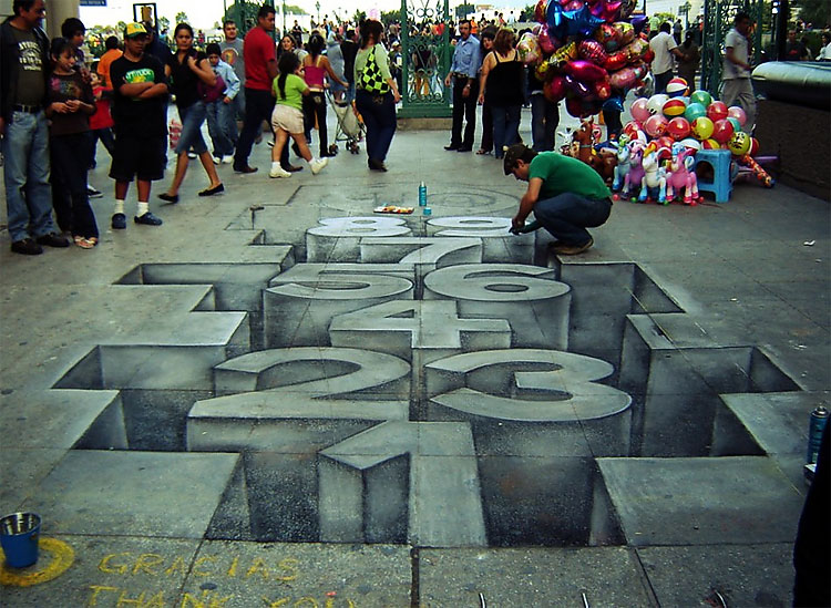 how to draw 3d street art