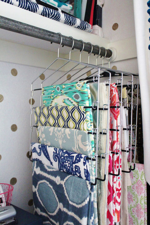 How to Declutter your fabric stash From I Heart Organising
