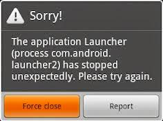 pesan alert error pada suatu aplikasi tertentu