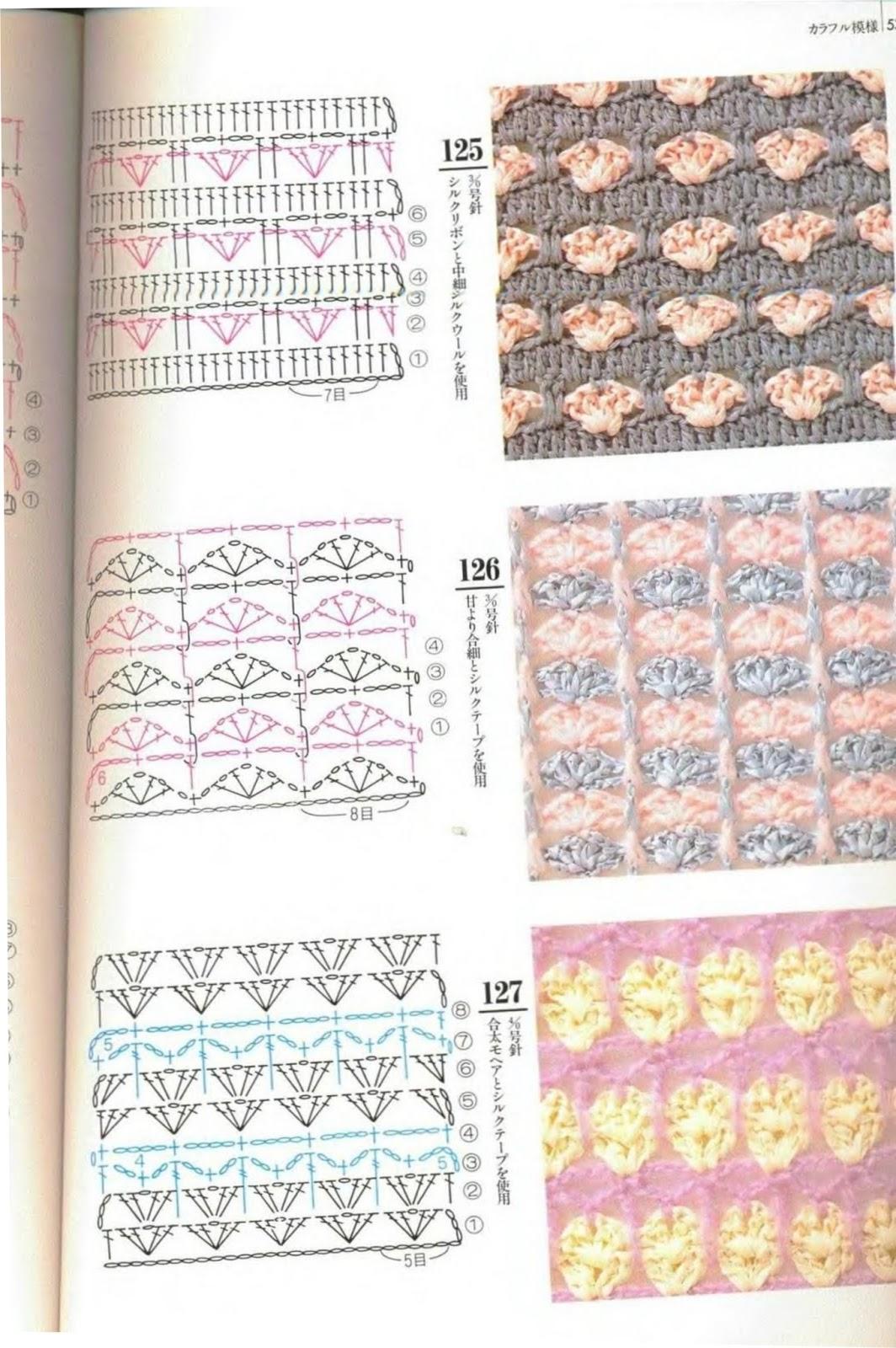 SOLO PUNTOS: Crochet Dos colores