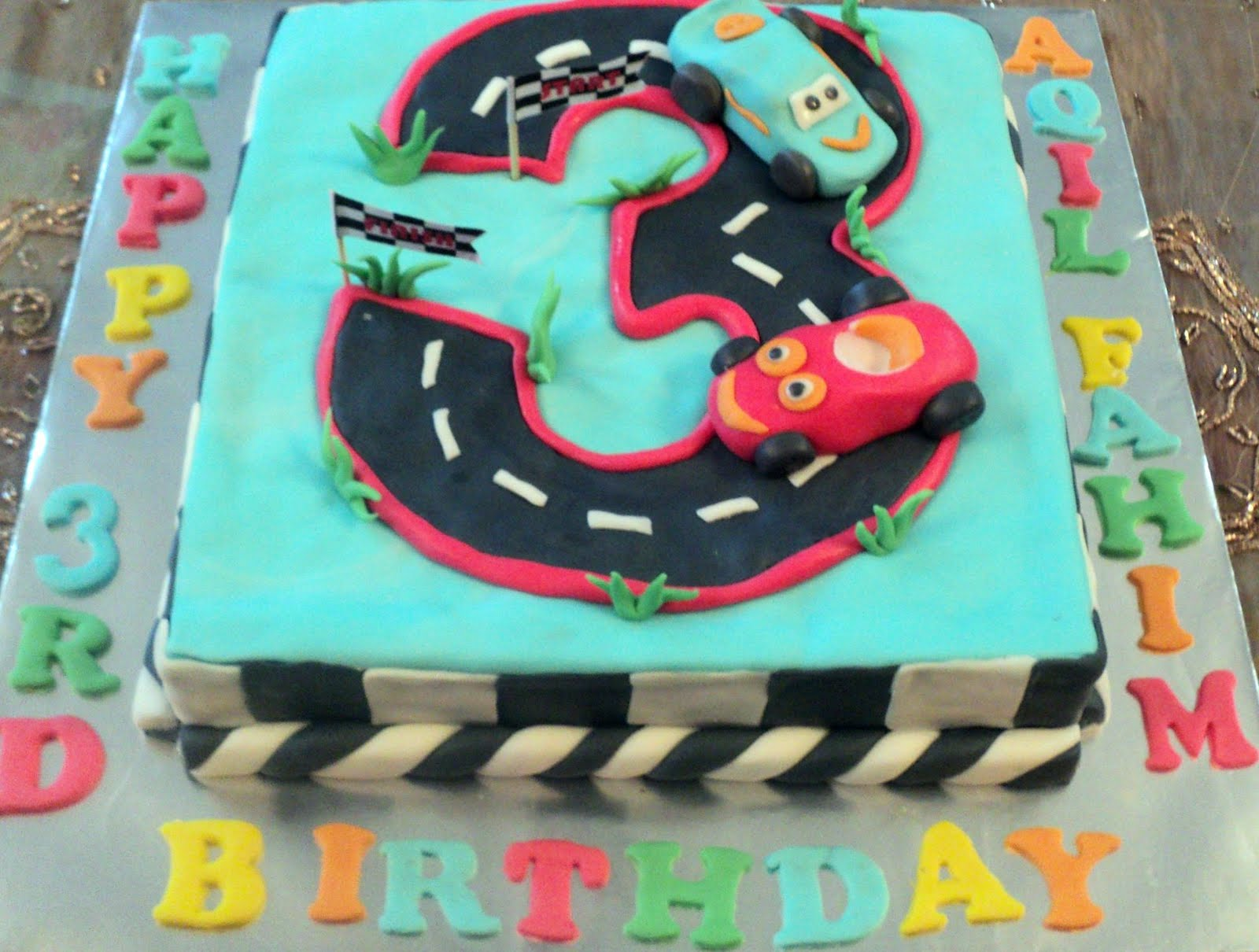 Izash Homecakes Aqil Fahims Bday Car Cake