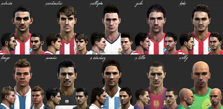 PES 2013 La Liga Facepack by el yorugua