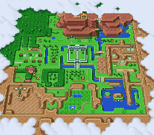 Legend of Zelda Link to the Past world map
