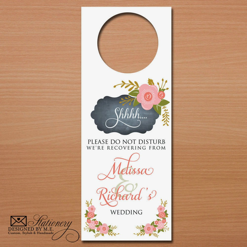 Chalkboard Wedding Door Hangers - they are unique Wedding Favors & Bridal Shower Gifts!