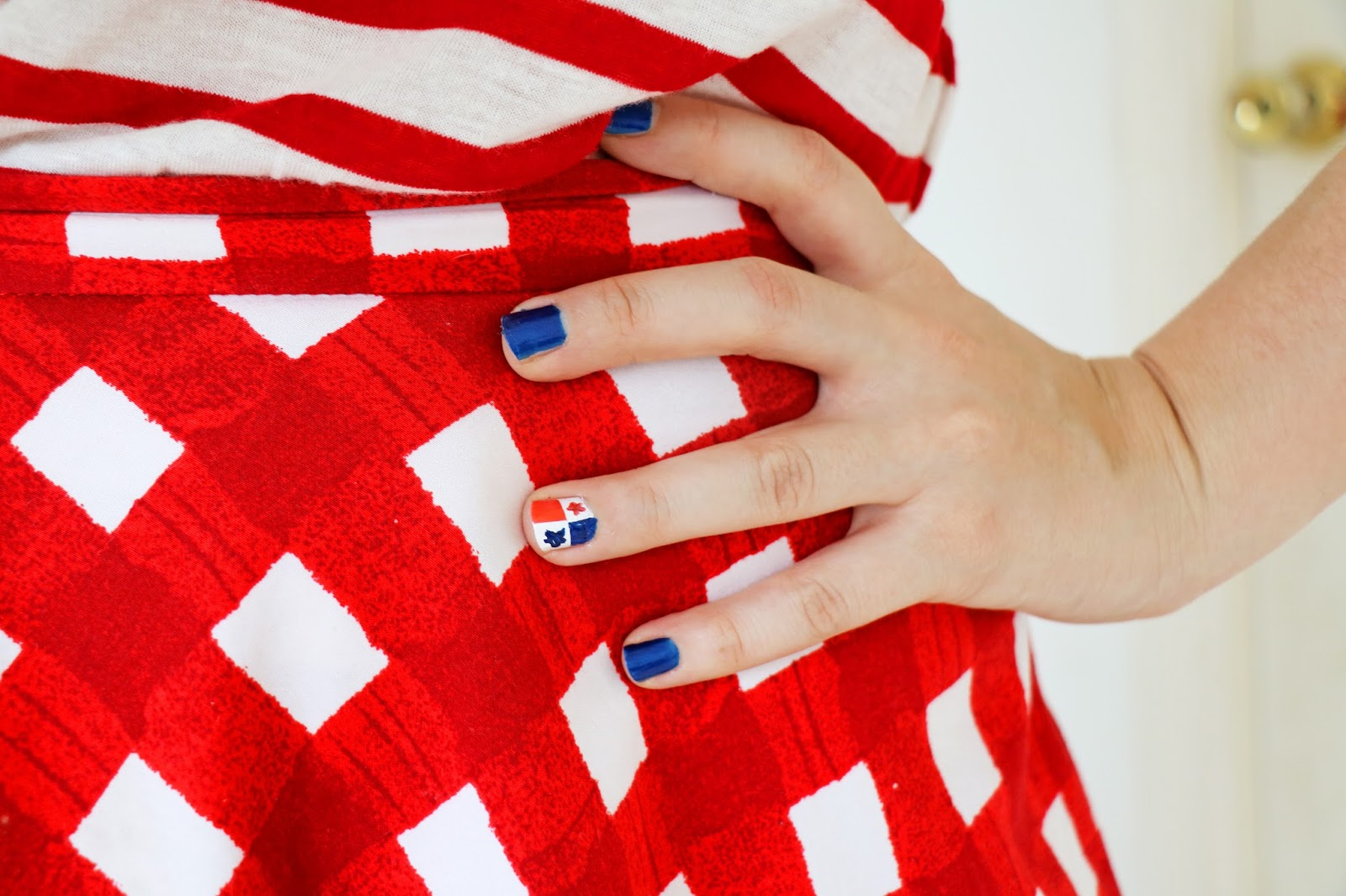 Cute patriotic nails