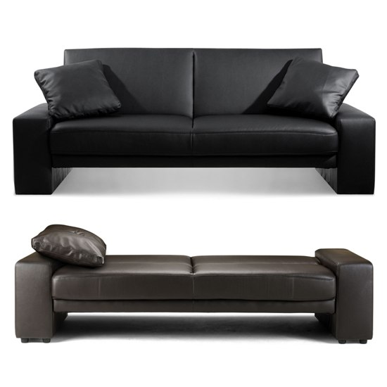 Faux Leather Sofa Bed