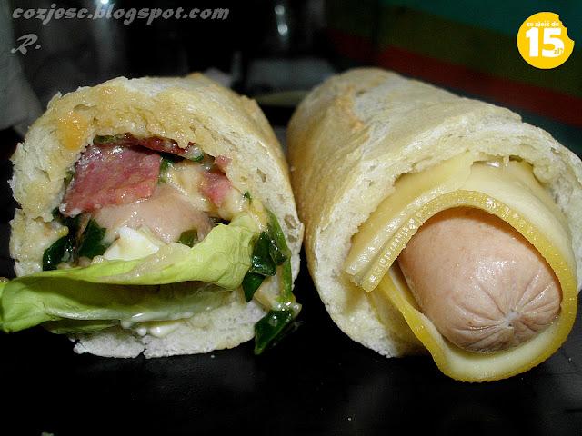 przepis na hot doga, hot dog z parówką, serem, majonezem, polski hot dog