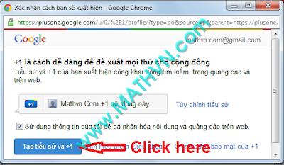 Cach su dung nut Google +1