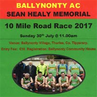 10 mile race in Tipperary...Sun 30th July 2017