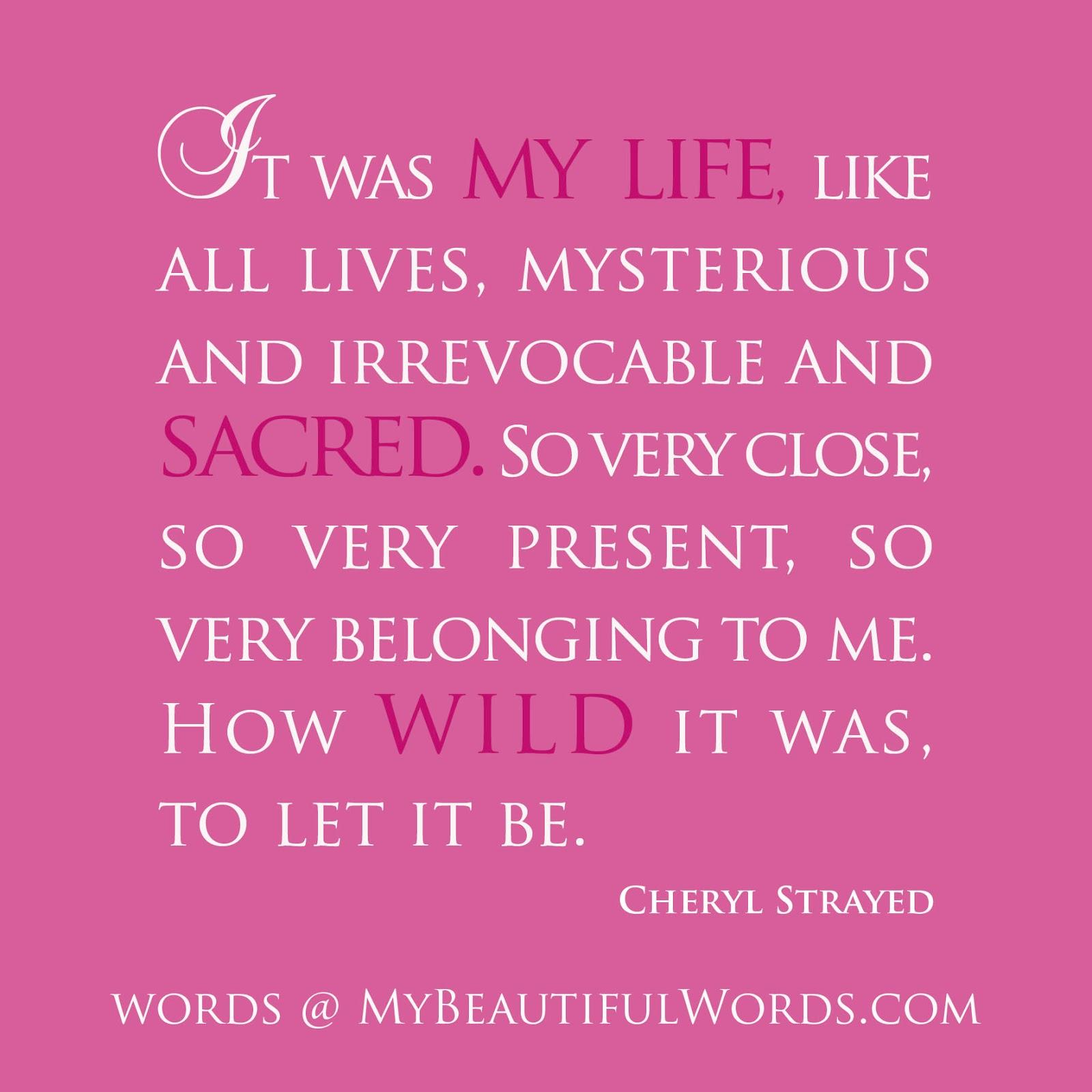 Cheryl Strayed Wild Quotes
