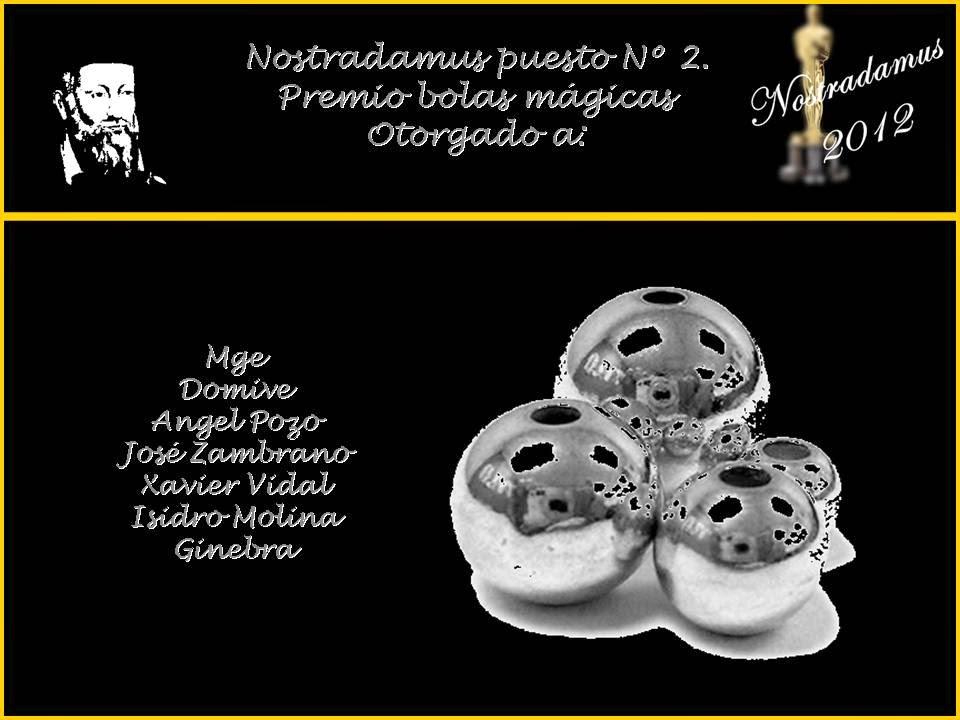 Segundo Lugar: Nostradamus de los Oscar 2012 (Segundo Desafío)
