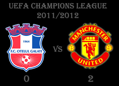 Otelul Galati vs Manchester United Results of champions league group stage C
