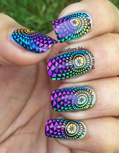 China Glaze Electric Nights - Nail Art