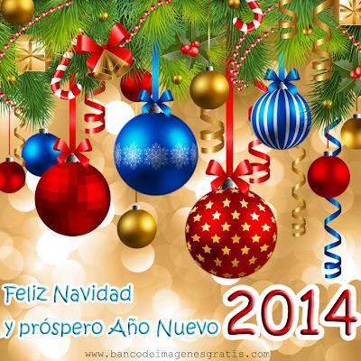Postales con mensaje de Año Nuevo 2014