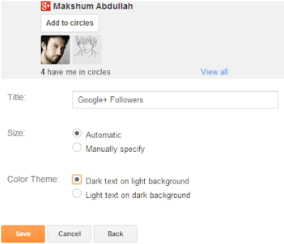 Membuat dan Pasang Widget Google+ Followers di blogger
