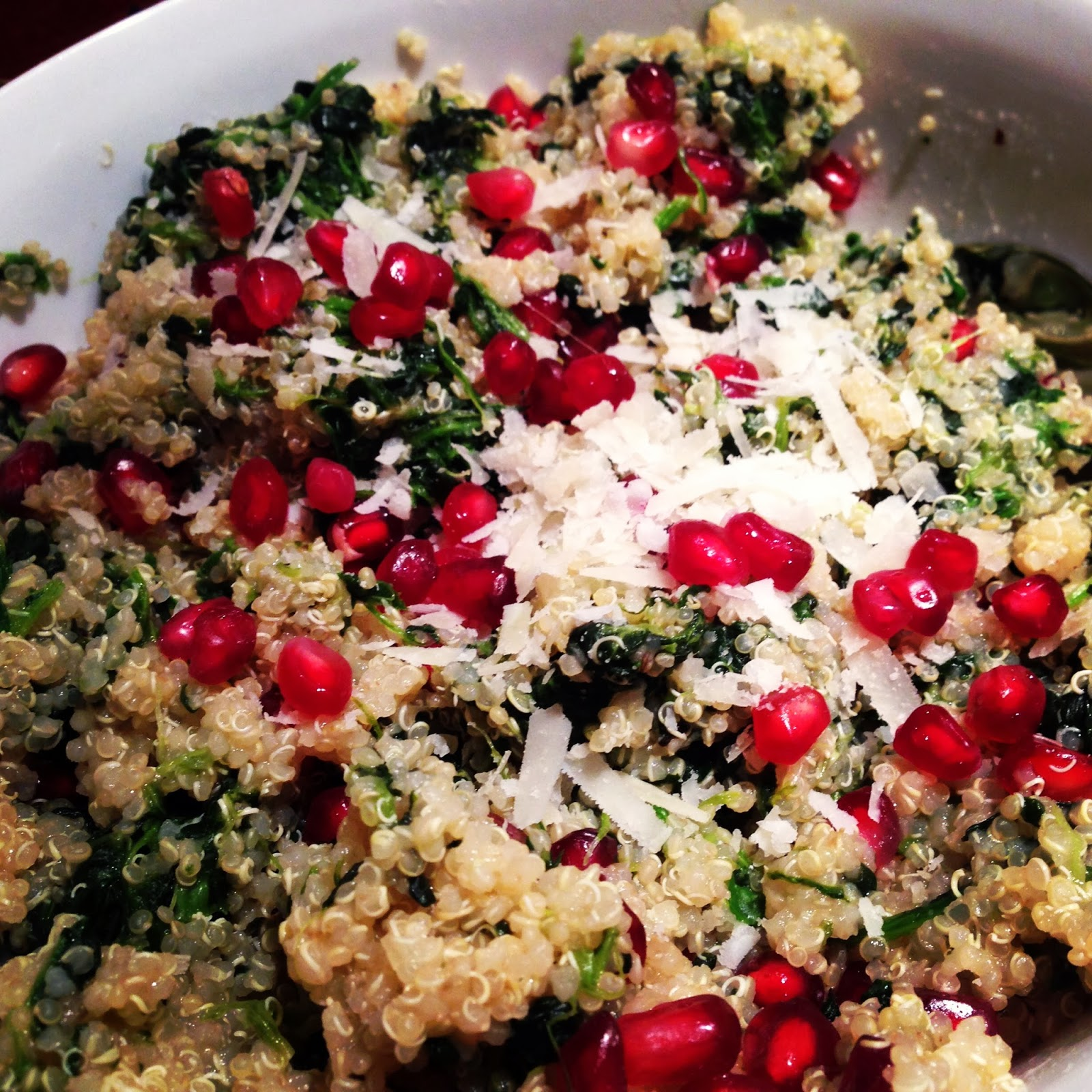 Quinoa with Pomegranate and Spinach by Heather | Chef Us