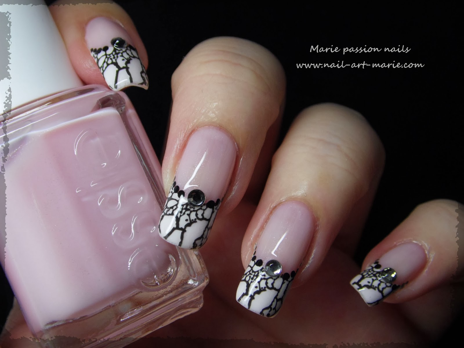 Nail art French effet faux ongles8