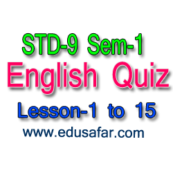 STD-9 sem-1 English Quiz