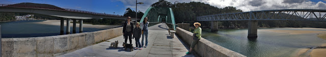 fotografía panorámica puentes sobre el rio sor en o barqueiro