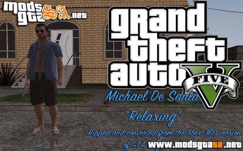 SA - Skin Michael De Santa do GTA V