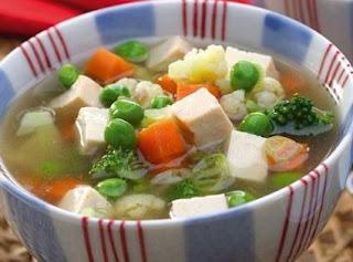 Resep Sup Soun Tahu Putih Kuah Bening Seger