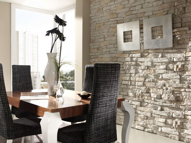 Paredes de piedra para crear espacios cálidos  Decorar tu casa es