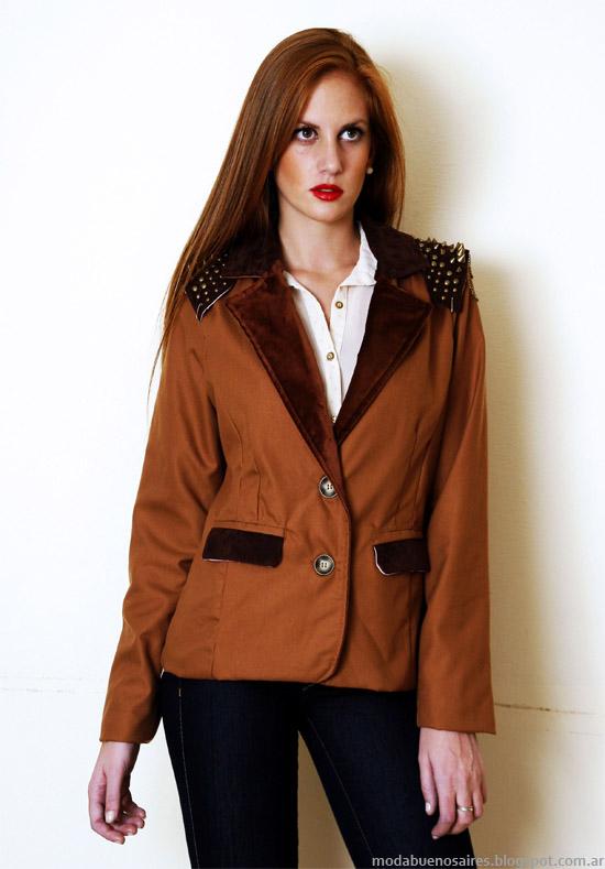 Sacos, blazers con tachas moda invierno 2013