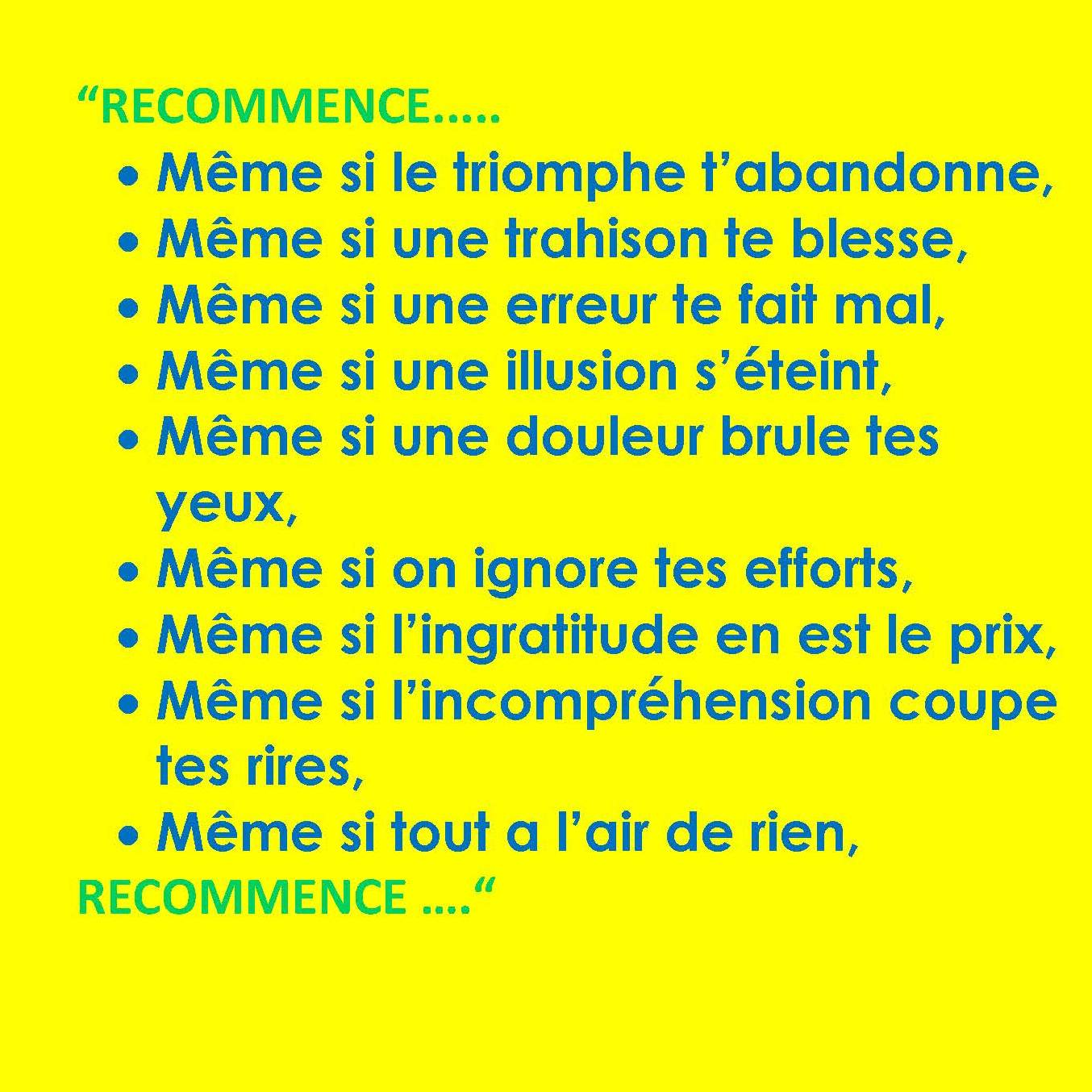 RECOMMENCE