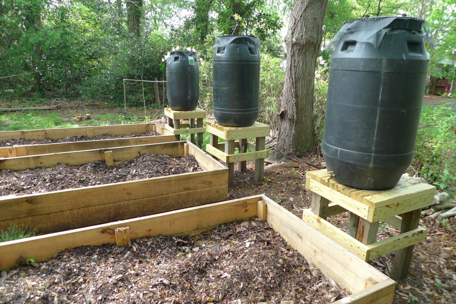 how to make a rain barrel system for your garden