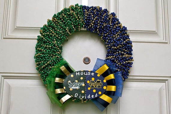 USF & Michigan House Divided Wreath