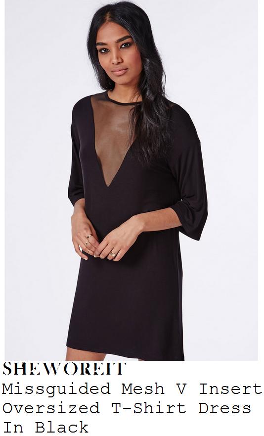 ferne-mccann-black-mesh-v-panel-oversized-t-shirt-dress-tenerife
