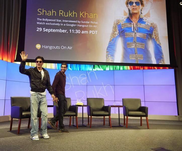 Team Shah Rukh Khan Shah Rukh Khan at Google Headquarter in