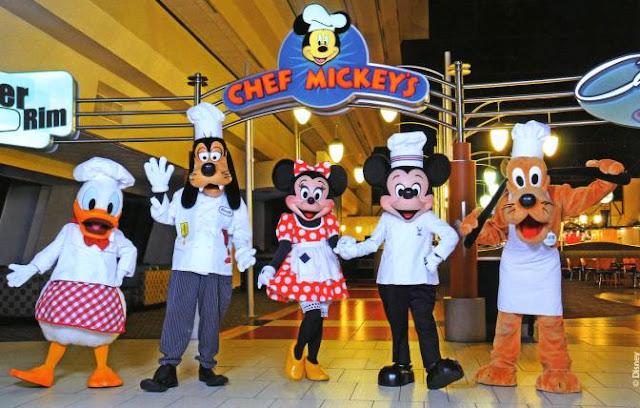 Comer com Personagens Disney