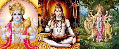 Vishnu, Shiv, and Durga by Swami Nikhilanand or Radha Madhav Dham
