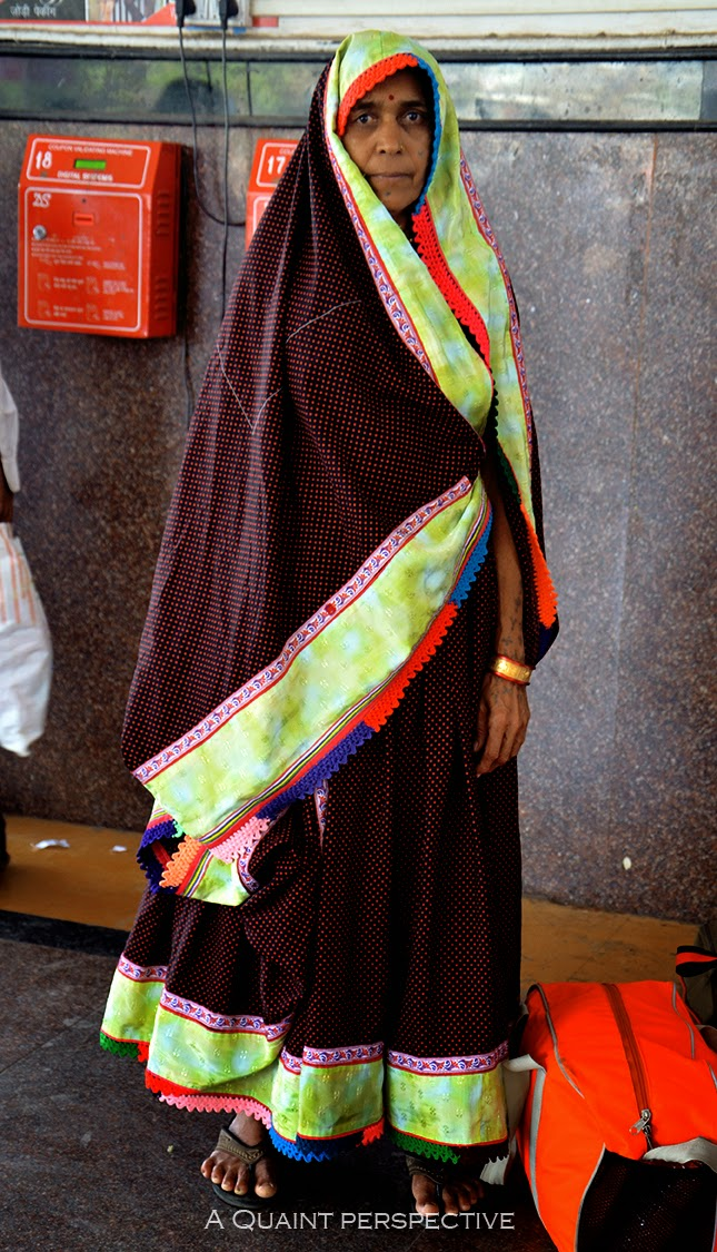 A women wearing traditional indian attire for Gujarat/Rajasthan, India
