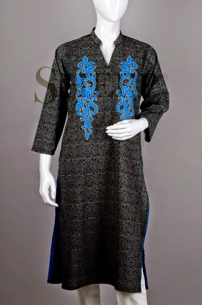 Elegant Textures of Kurti with Thread embroidered Bunch