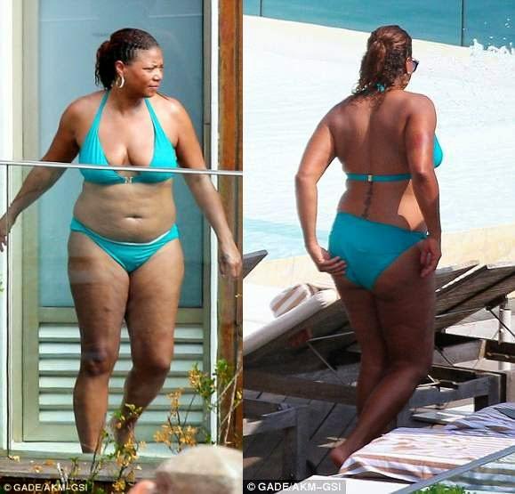 queen latifah shows off bikini bod on vacation in brazil