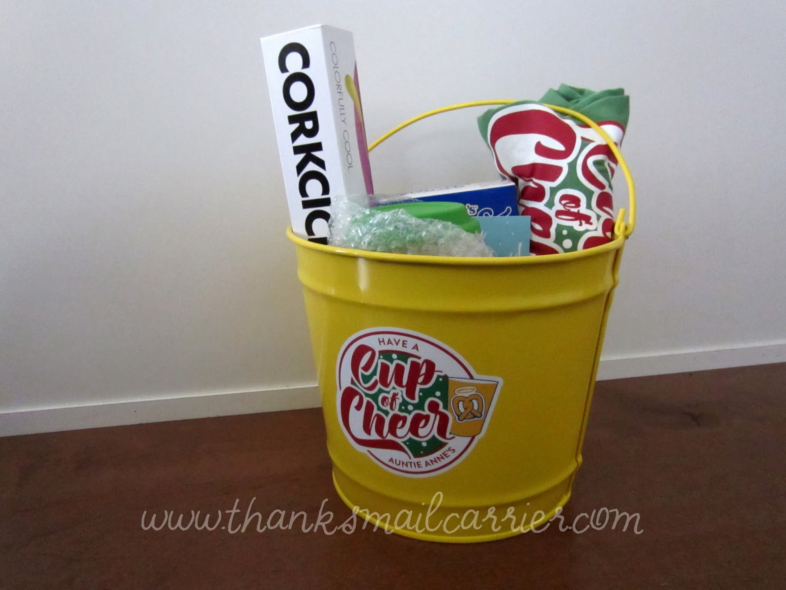 Auntie Anne's cup of cheer bucket