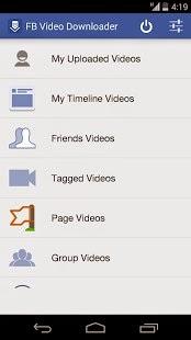 merupakan salah satu dari banyaknya aplikasi android Download video facebook di android dengan FB Video Downloader
