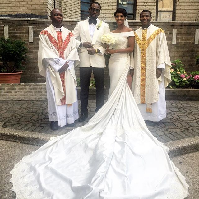 Who wears what n where weekend glam toke makinwa osas for Ryan and walter wedding dress prices