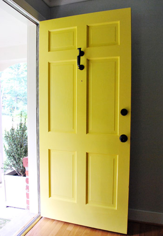 Gorgeous yellow front door it was all yellow pinterest for Front door yellow paint