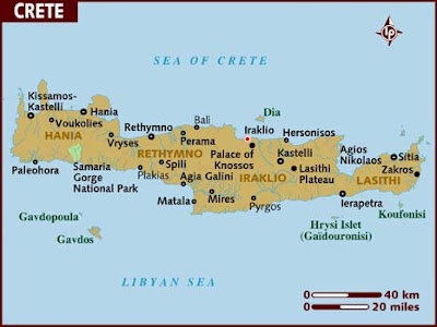 Map of Crete Province Area